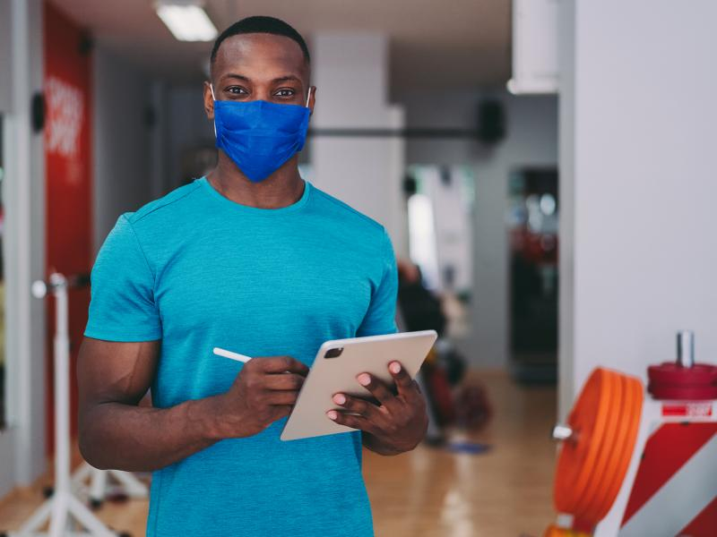 Fitness Trainer in mask